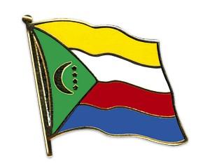 Flaggen-Pins Komoren (geschwungen)