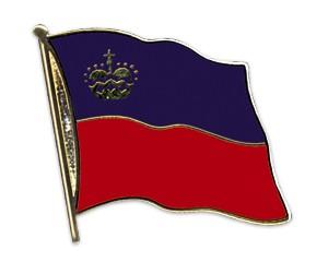 Flaggen-Pins Liechtenstein (geschwungen)