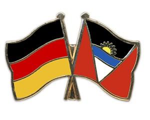 Freundschaftspins Deutschland-Antigua und Barbuda