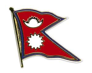 Flaggen-Pins Nepal (geschwungen)