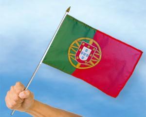 Stock-Flagge Portugal 30 x 45