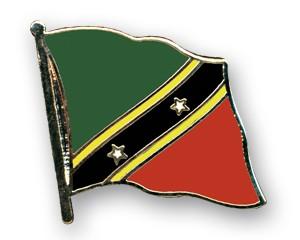Flaggen-Pins St. Kitts und Nevis (geschwungen)