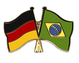 Freundschaftspins Deutschland-Brasilien