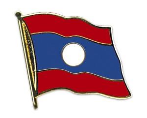 Flaggen-Pins Laos (geschwungen)
