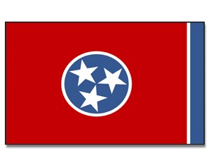 Flagge Tennessee 90 x 150