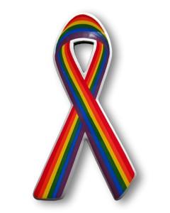 Kühlschrankmagnet Rainbow Ribbon vertikal