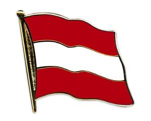 Flaggen-Pins Österreich (geschwungen)