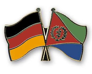 Freundschaftspins Deutschland-Eritrea