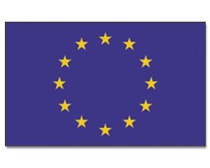 Stock-Flagge Europa 30 x 45
