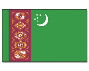 Flagge Turkmenistan 90 x 150
