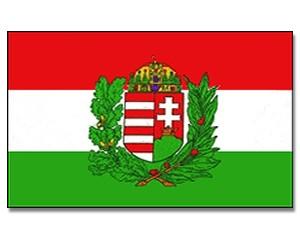 Flagge Ungarn mit Wappen 90 x 150