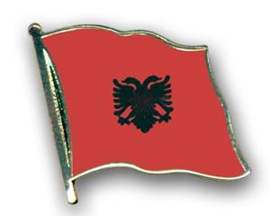 Flaggen-Pins Albanien (geschwungen)