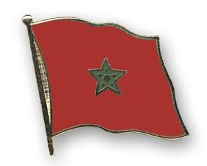 Flaggen-Pins Marokko (geschwungen)