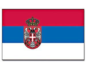 Flagge Serbien mit Adler 90 x 150