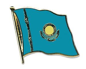 Flaggen-Pins Kasachstan (geschwungen)