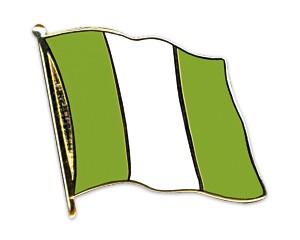 Flaggen-Pins Nigeria (geschwungen)