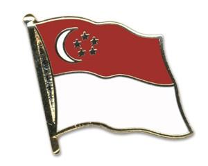 Flaggen-Pins Singapur (geschwungen)