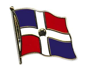 Flaggen-Pins Dominikanische Republik (geschwungen)