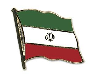 Flaggen-Pins Iran (geschwungen)