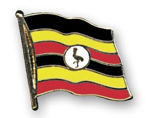 Flaggen-Pins Uganda (geschwungen)