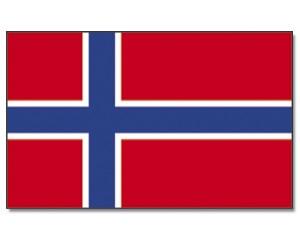 Stock-Flagge Norwegen 30 x 45