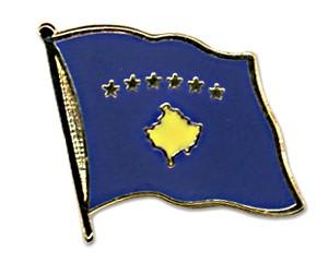 Flaggen-Pins Kosovo (geschwungen)