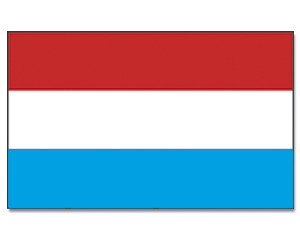 Stock-Flagge Luxemburg 30 x 45