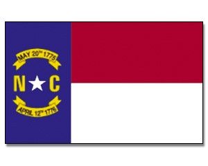 Flagge North-Carolina 90 x 150
