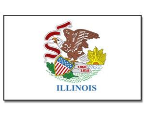 Flagge Illinois 90 x 150