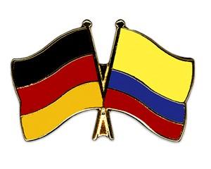 Freundschaftspins Deutschland-Kolumbien