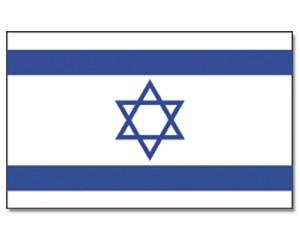 Stock-Flagge Israel 30 x 45