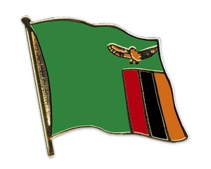 Flaggen-Pins Sambia (geschwungen)