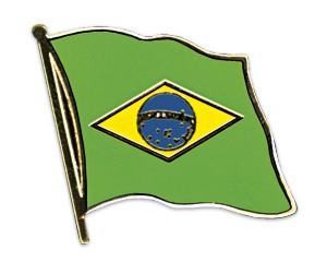 Flaggen-Pins Brasilien (geschwungen)