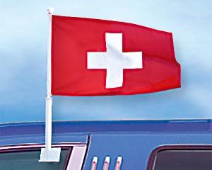 Autoflagge Schweiz 27 x 45
