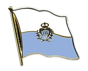 Flaggen-Pins San Marino (geschwungen)
