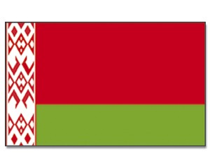 Stock-Flagge Belarus (Weißrussland) 30 x 45