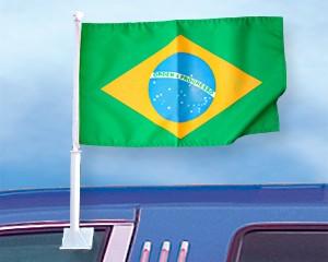 Autoflagge Brasilien 27 x 45