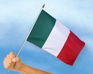 Stock-Flagge Italien 30 x 45