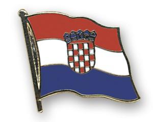 Flaggen-Pins Kroatien (geschwungen)