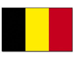 Stock-Flagge Belgien 30 x 45