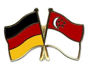 Freundschaftspins Deutschland-Singapur