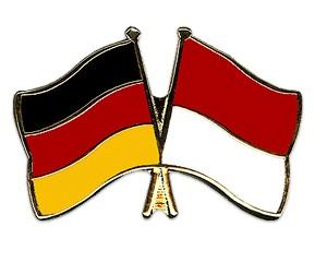 Freundschaftspins Deutschland-Indonesien