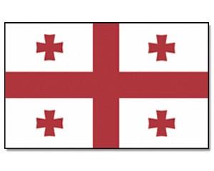 Stock-Flagge Georgien 30 x 45