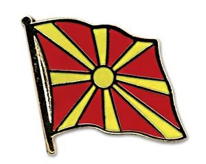Flaggen-Pins Mazedonien (geschwungen)