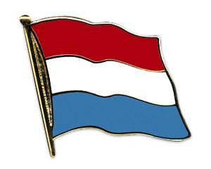 Flaggen-Pins Luxemburg (geschwungen)