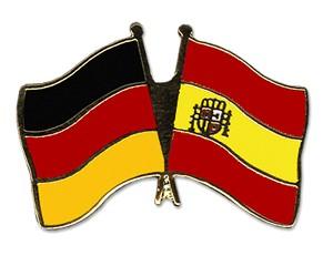Freundschaftspins Deutschland-Spanien