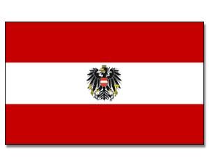 Stock-Flagge Österreich mit Adler 30 x 45
