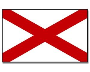 Flagge Alabama 90 x 150