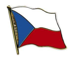 Flaggen-Pins Tschechische Republik (geschwungen)