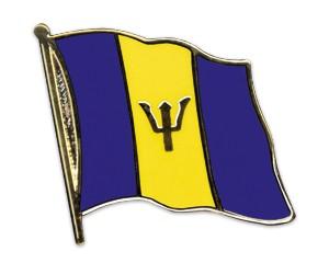 Flaggen-Pins Barbados (geschwungen)